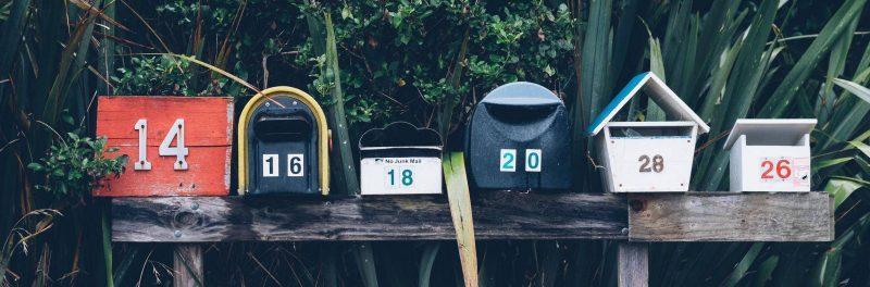 mailboxes post posta cassette delle lettere