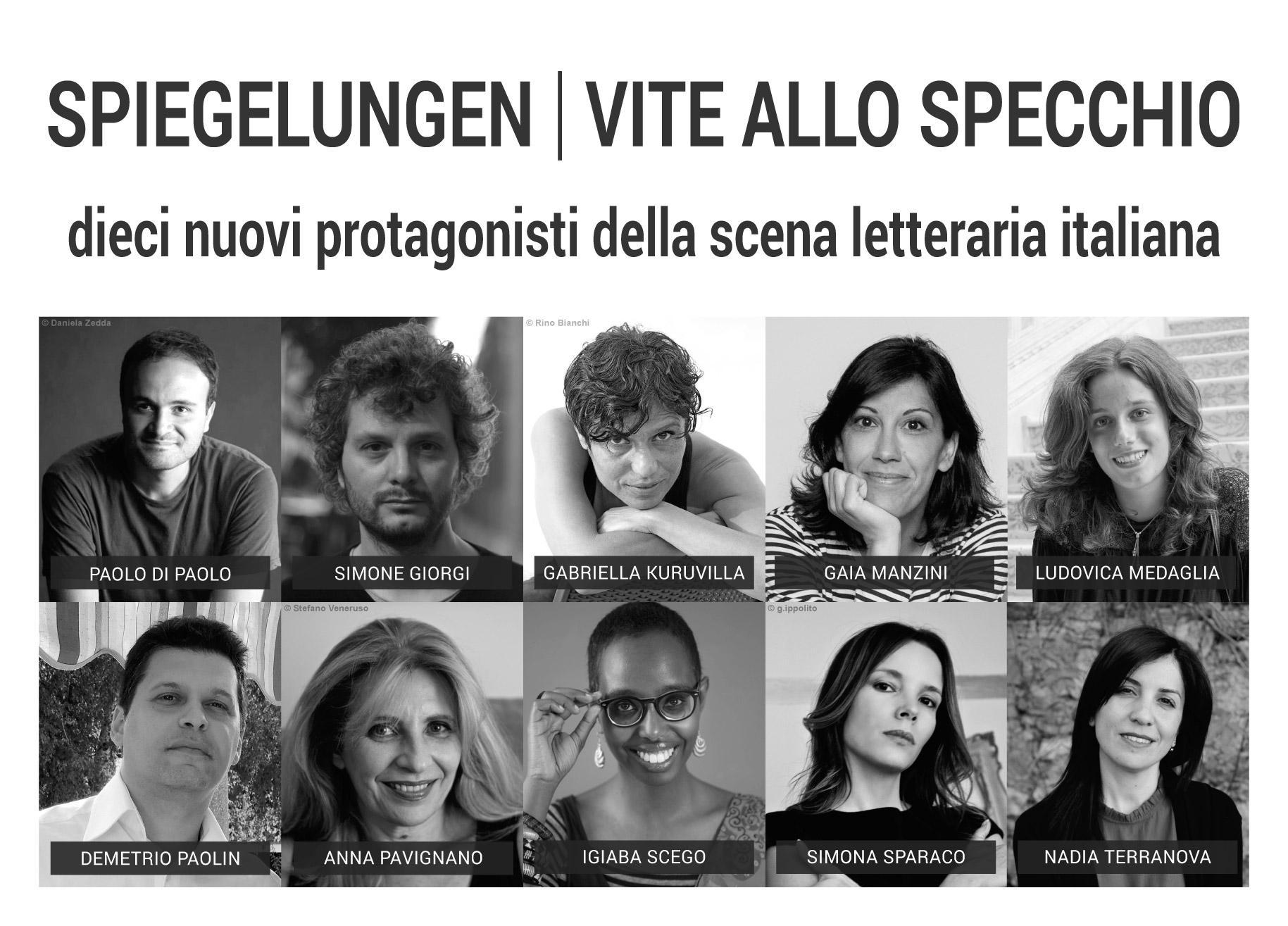 Presentazione serata Spiegelungen Vite allo specchio dieci nuovi protagonisti della scena letteraria italiana 25 ottobre 2018