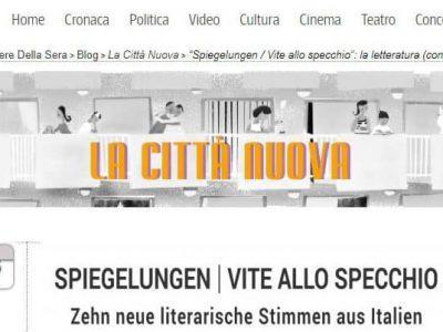 """Spiegelungen erscheint auf  dem Blog """"La città nuova"""", Corriere della Sera"""