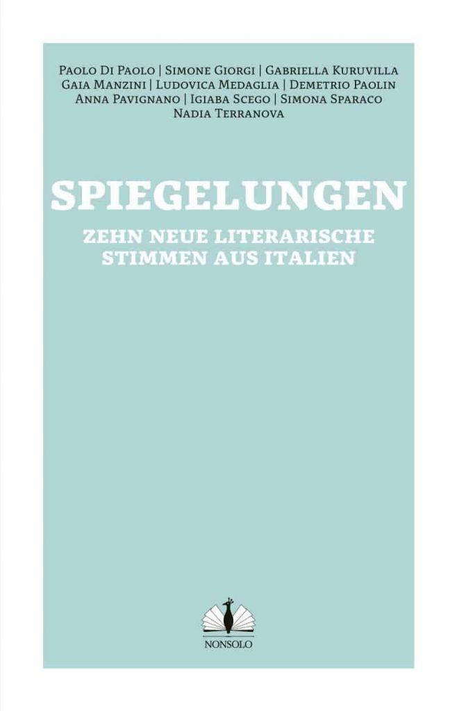 """Umschlag der Anthologie """"Spiegelungen / Vite allo specchio"""" –Vorderseite"""