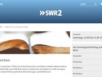 Samstag 16.02, 14:25 Uhr: Radiointerview im SWR2