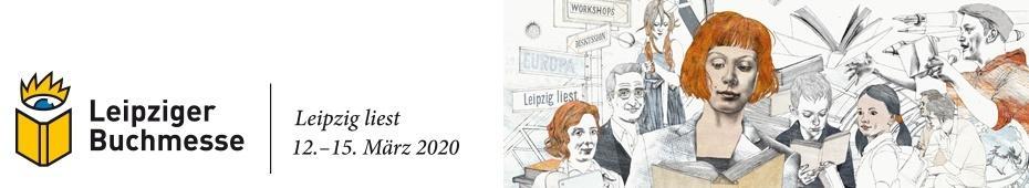 Leipziger Buchmesse 2020, Leipzig liest 12.-15. März (header mit logo)