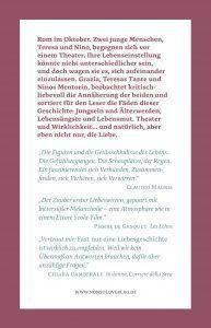 """Umschlag vom Roman """"Fast nur eine Liebesgeschichte"""", Paolo Di Paolo (Rückseite)"""