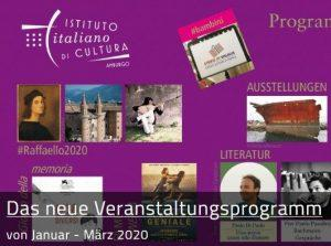 Programma eventi 2020 IIC Hamburg