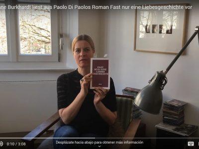 [1/2] Christiane Burkhardt legge dal romanzo di Paolo Di Paolo