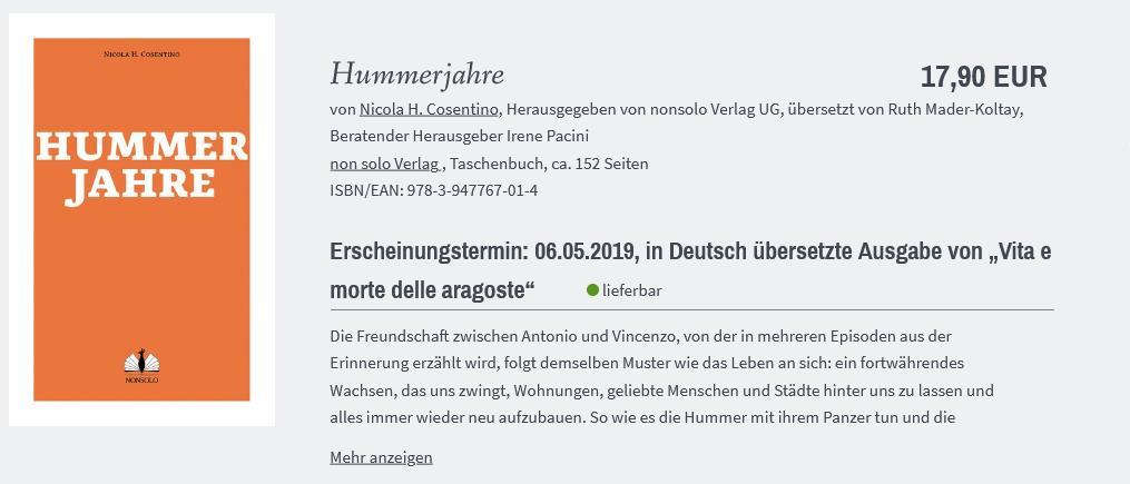 VLB-TIX-Katalog #EinePreiseLeipzig Hummerjahre, Vorschau