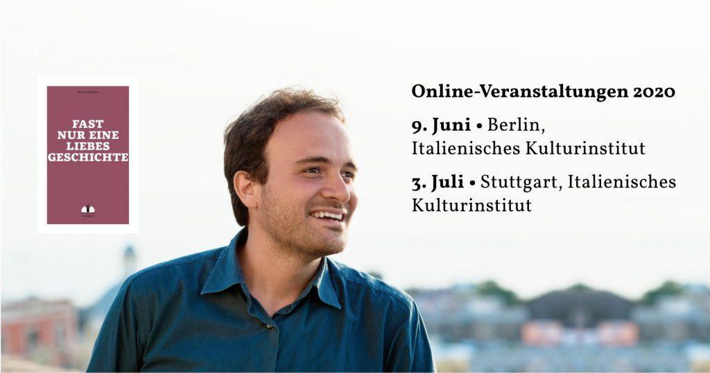 Online-Veranstaltungen Paolo Di Paolo 2020