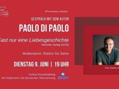 Online-Gespräch mit Paolo Di Paolo