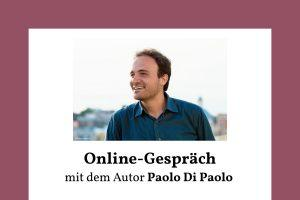 Online Gespräch Paolo Di Paolo, cover