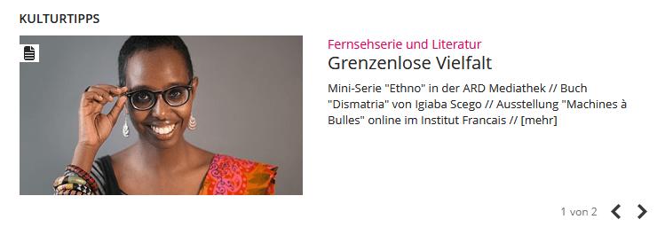 """br.de, Das interkulturelle Magazin Begegnung der Kulturen """"Grenzenlose Vielfalt"""""""